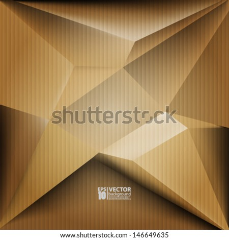 eps10 vector abstract 3D geometric shapes background - stock vector