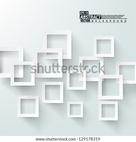 Eps10 Vector Abstract 3d overlapping squares concept Background