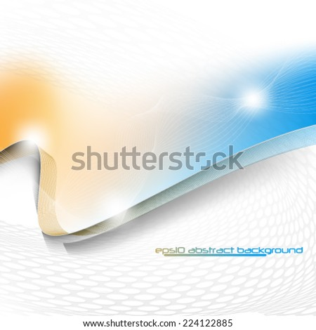 eps10 vector abstract elegant wave design background - stock vector