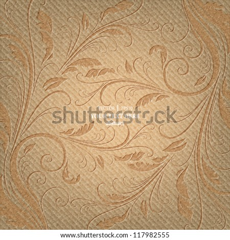 eps10 vector abstract fabric textured floral seamless design background - stock vector