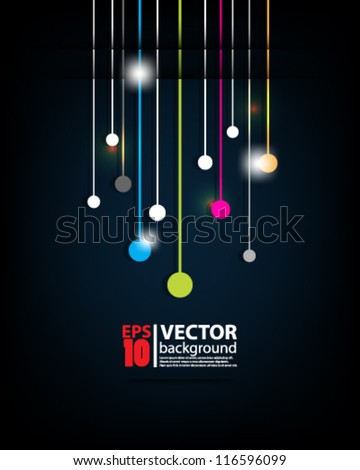 eps10 vector abstract futuristic background - stock vector