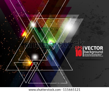eps10 vector abstract geometic background - stock vector