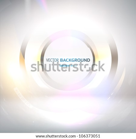 EPS10 vector abstract glow swirl - stock vector