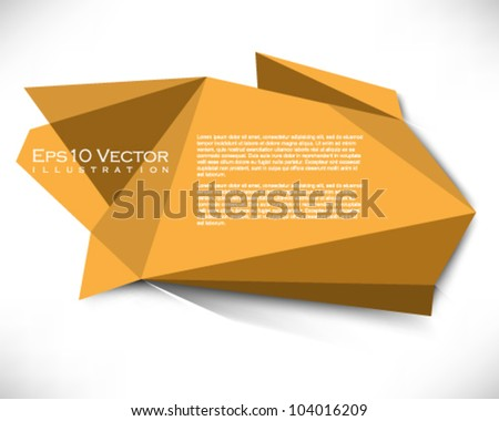 eps10 vector abstract origami banner illustration - stock vector