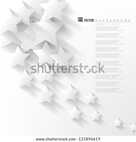 Eps10 Vector Abstract Overlapping Stars background - stock vector