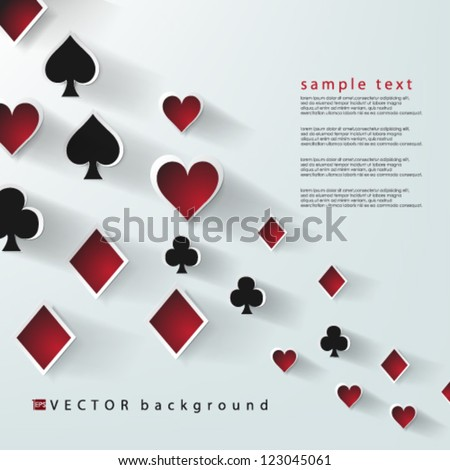 Eps10 Vector Abstract Playing Cards Elements Background design - stock vector