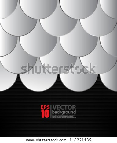 eps10 vector abstract seamless overlapping background - stock vector