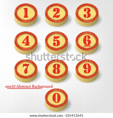 eps10 vector abstract set of vintage numbers design - stock vector