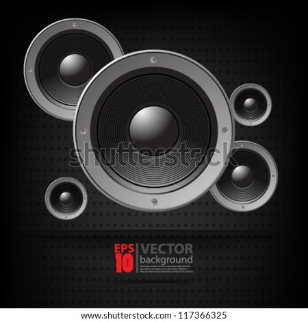eps10 vector abstract speaker concept background - stock vector