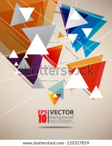 eps10 vector abstract triangle background concept design - stock vector