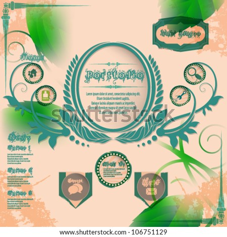 eps10 vector abstract Vintage Web Design - stock vector