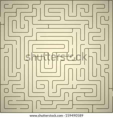 Eps10 vector background with maze. - stock vector