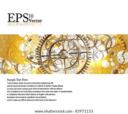 Eps10 Vector Beautiful Shining Gears Design - stock vector