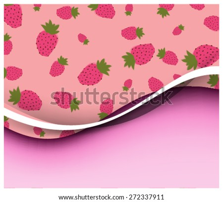 Eps10 Vector Berry seamless pattern design for you business - stock vector