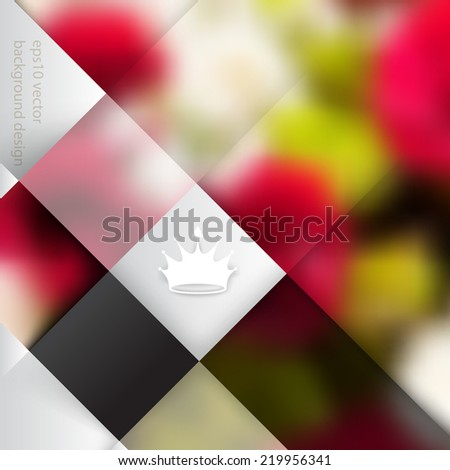 eps10 vector blurry photo realistic foliage elements on business concept background - stock vector