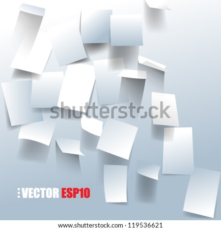 eps10 vector bulletin board paper notes background - stock vector