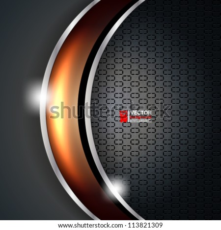 eps10 vector carbon metallic seamless pattern design background - stock vector