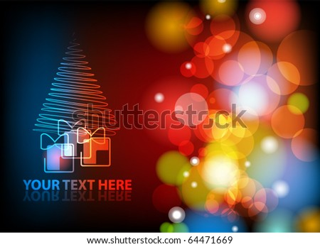 EPS10 vector Christmas or New Year abstract background.