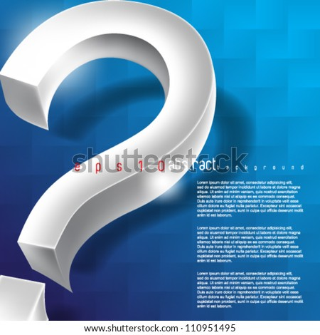 eps10 vector chrome question mark icon background - stock vector