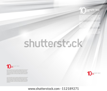 eps10 vector chrome rays background illustration - stock vector