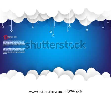 eps10 vector cloud element illustration - stock vector