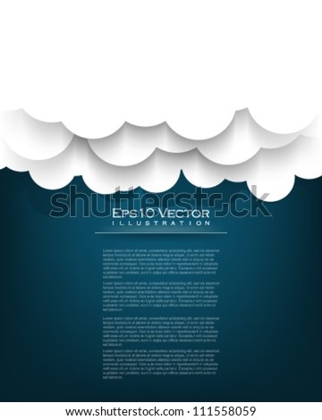 eps10 vector cloud illustration - stock vector