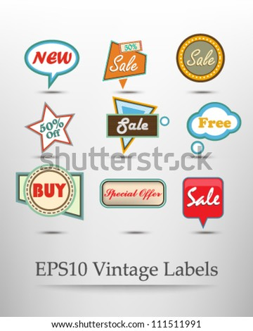 eps10 vector collection of signs and speech bubble design - stock vector