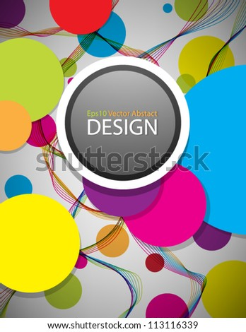 Eps10 Vector Colorful Abstract Background Design - stock vector