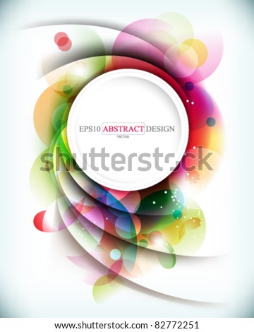 eps10 vector colorful background with round frame at the middle