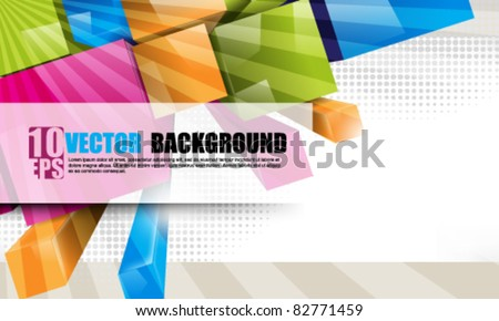 eps10 vector colorful 3d blocks background - stock vector