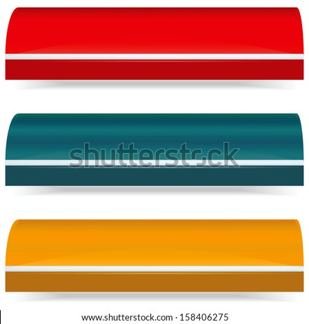 EPS Vector 10 - Colorful set of plain color awnings - stock vector