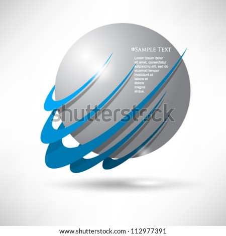 eps10 vector corporate concept icon background - stock vector