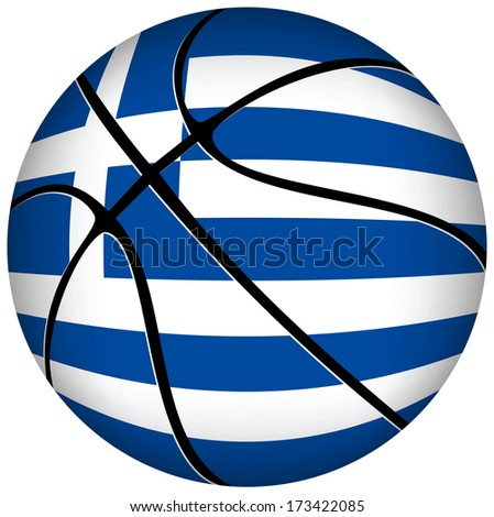EPS 10 Vector. 3D basket ball with German  flag on white. - stock vector