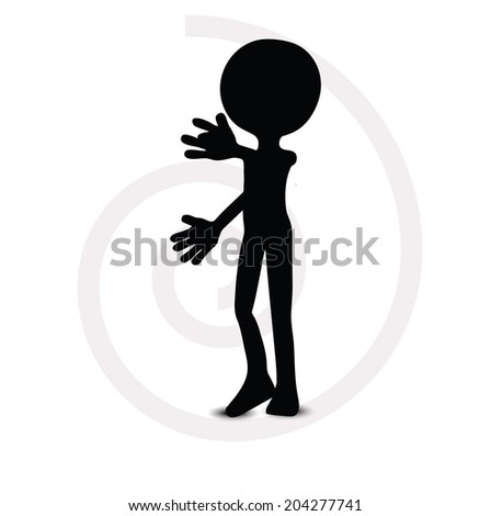 EPS Vector 10 - 3d man in thinking pose - stock vector