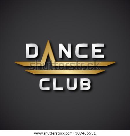 EPS10 vector dance club text icon - stock vector