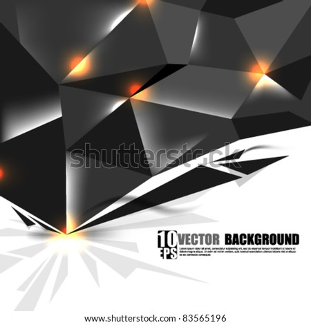 eps10 vector dark metallic concept background design - stock vector
