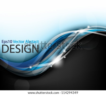 Eps10 Vector Elegant Abstract Background Design - stock vector