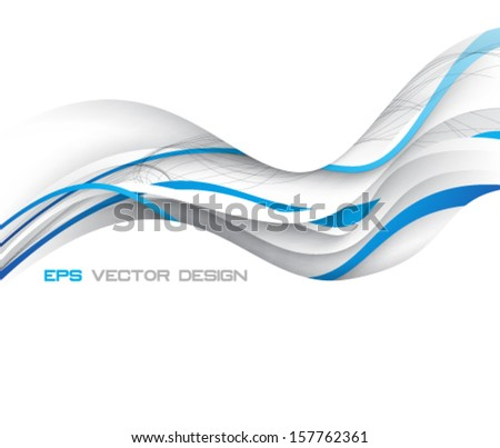 Eps10 Vector Elegant Blue Concept Design for your Business - stock vector
