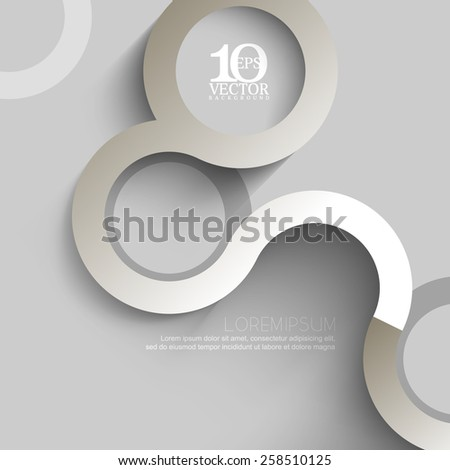 eps10 vector elegant clean monochrome winding lines business background - stock vector