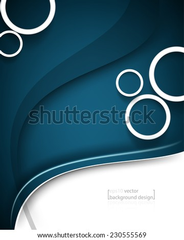 eps10 vector elegant five frame rings with bent lines concept business background - stock vector