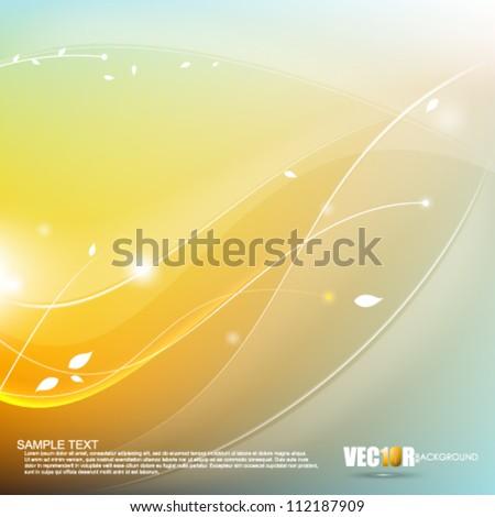 eps10 vector elegant minimalism concept background design - stock vector