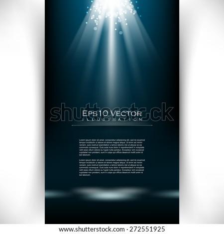 eps10 vector elegant spotlight effect illumination illustration - stock vector