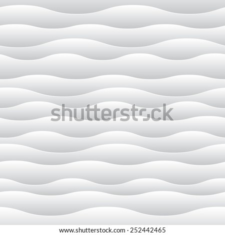 eps10 vector elegant white waves background illustration art - stock vector