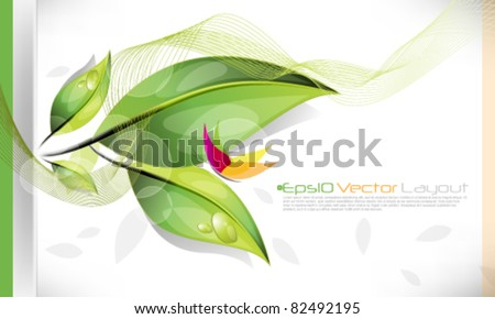 eps10 vector environmental elements background design - stock vector