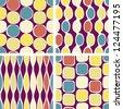 Eps10 vector file. Seamless retro geometric pattern. Raster version available in my portfolio - stock photo