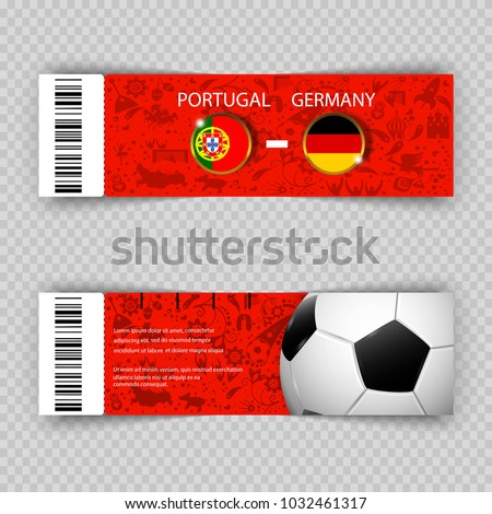 eps 10 vector football ticket layout stock vector 1032461317