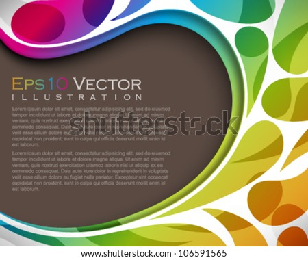 eps10 vector, frame, multicolored abstract seamless pattern background illustration - stock vector