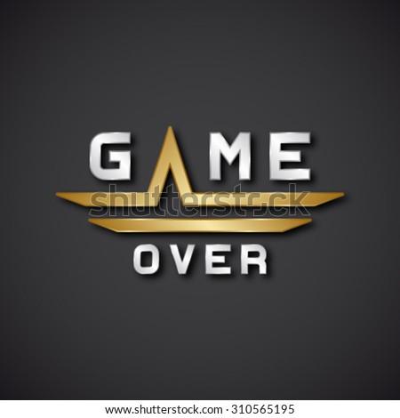 EPS10 vector game over text icon - stock vector