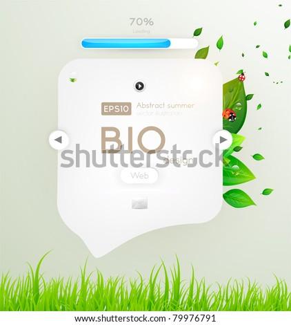 eps10 vector green leaves modern design - stock vector
