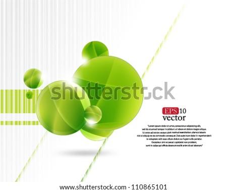 Eps10 Vector Green Theme Concept - stock vector